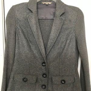 Cabi flannel and knit blazer